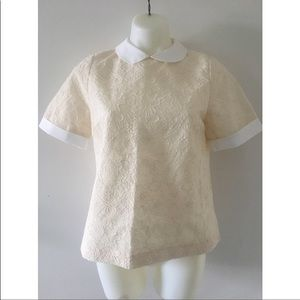 Tory Burch Lace Collared Blouse / Size 8